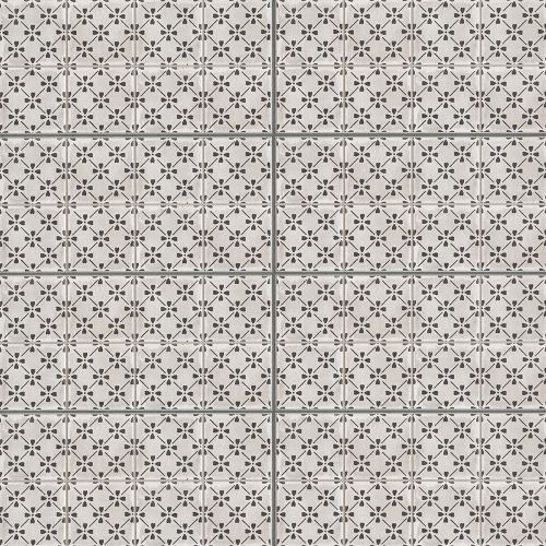 "Palazzo 12"" x 24"" Decorative Tile in Castle Graphite Bloom"