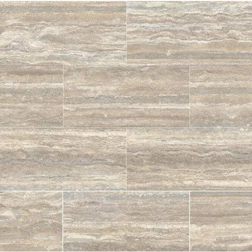 "Plane 15"" x 30"" x 1/4"" Floor and Wall Tile in Travertino Vena Honed"