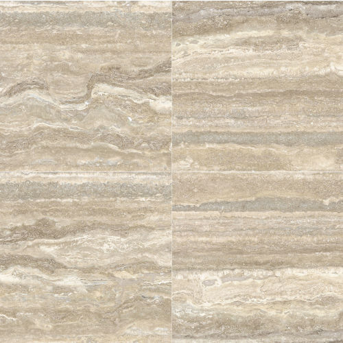 "Plane 30"" x 30"" Floor & Wall Tile in Travertino Vena Honed"