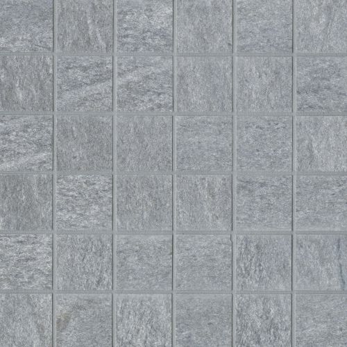 "Urban 2.0 2"" x 2"" Floor & Wall Mosaic in Lava Grey"