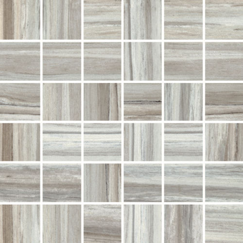 "Zebrino 2"" x 2"" Floor & Wall Mosaic in Bluette"