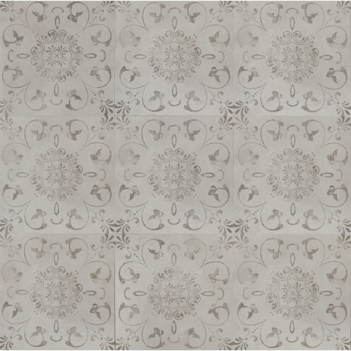 "Cemento 24"" x 24"" Decorative Tile in Silver Sage"