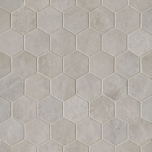 "Clive 2"" x 2"" Floor & Wall Mosaic in Silver"