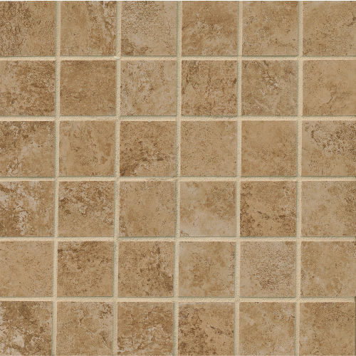 "Fantasia 2"" x 2"" Floor and Wall Mosaic in Pecan"