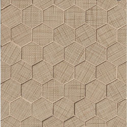 "Lido 2"" x 2"" Floor and Wall Mosaic in Camel"