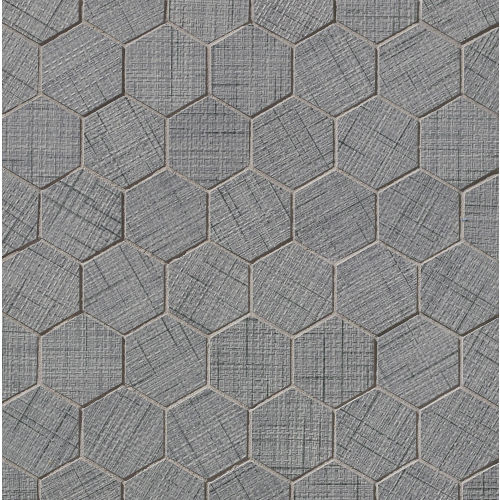 "Lido 2"" x 2"" Floor and Wall Mosaic in Gray"