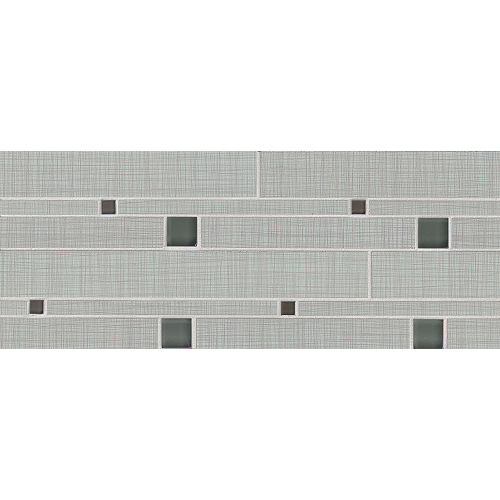 Linen Floor and Wall Mosaic in Zinc