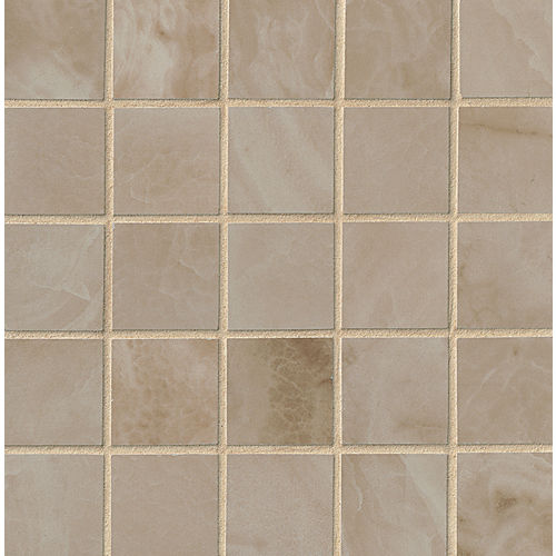 "Onyx 2"" x 2"" Floor & Wall Mosaic in Gray"