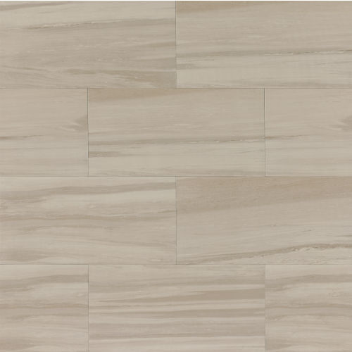 "Rose Wood 12"" x 24"" x 3/8"" Floor and Wall Tile in Silver"