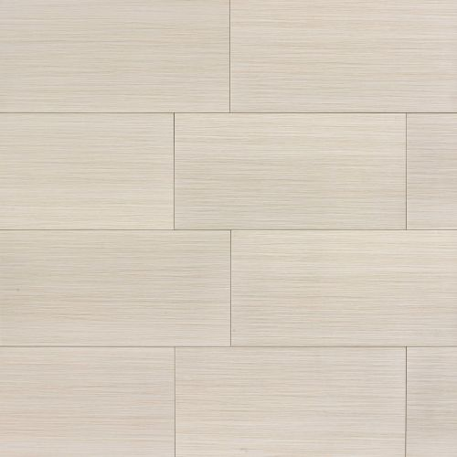"Runway 12"" x 24"" Floor & Wall Tile in Alabaster"