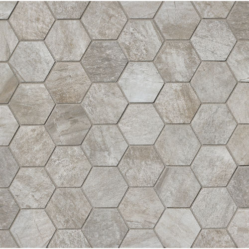 Stone Mountain Floor & Wall Mosaic in Silver