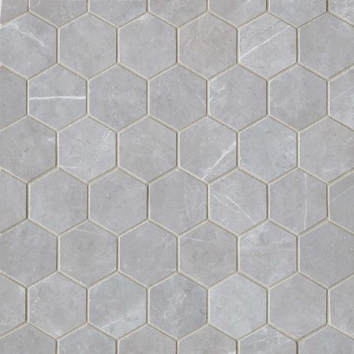 "Troy 2"" x 2"" Floor & Wall Mosaic in Silver"