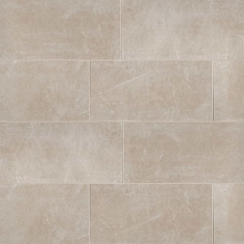 "Troy 12"" x 24"" Floor & Wall Tile in Beige"