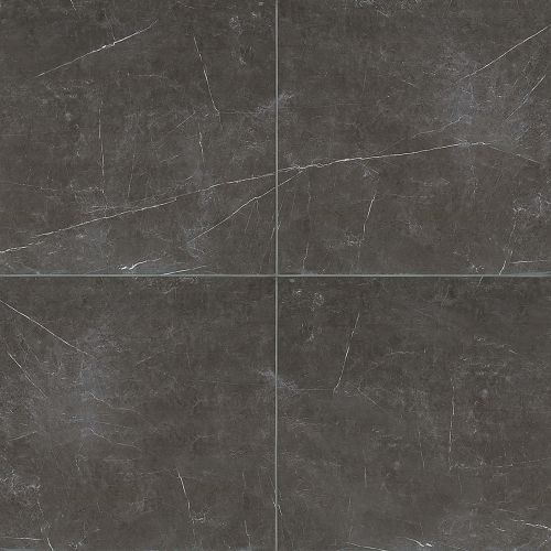 "Troy 24"" x 24"" Floor & Wall Tile in Nero"