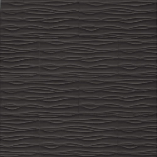 "Wave 12"" x 24"" x 3/8"" Wall Tile in Black"