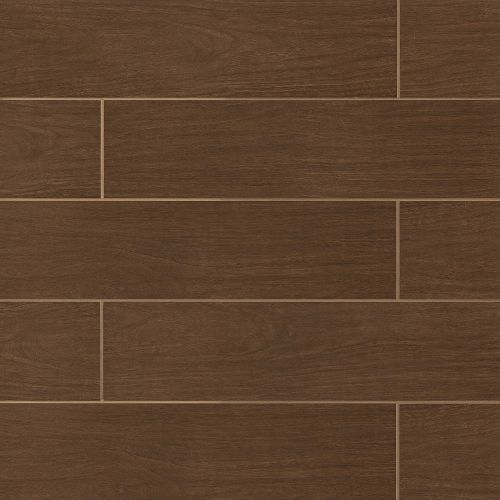 "Heathland Collection 6"" x 24"" Floor & Wall Tile in Walnut"
