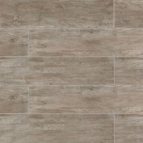 "River Wood 8"" x 24"" x 3/8"" Floor and Wall Tile in Taupe"