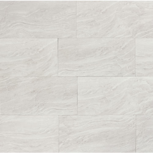 "Yosemite 12"" x 24"" x 3/8"" Floor and Wall Tile in Silver"