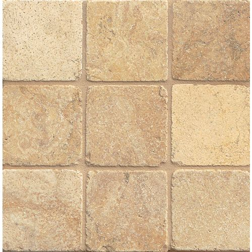"Crema Viejo 4"" x 4"" Floor & Wall Tile"