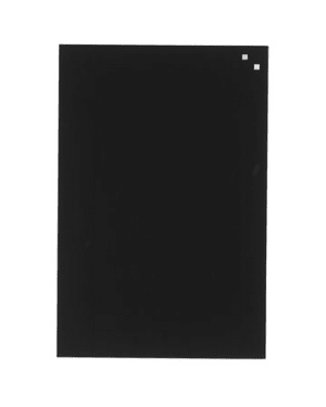 NAGA Magnetic Glass Noticeboard BLACK 40 x 60cm