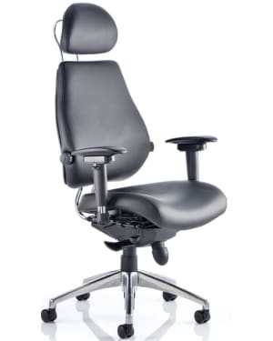 Chiro Plus 'Ultimate' Posture Chair, Black Leather