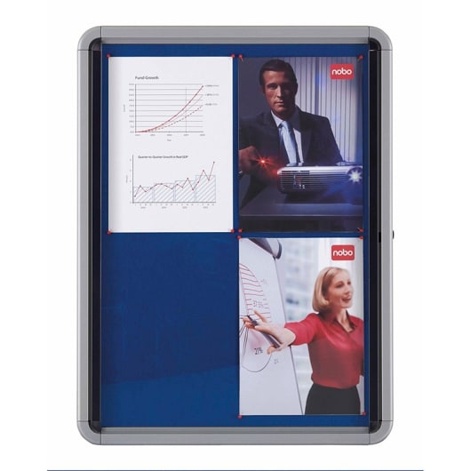 Nobo 1902556 Premium Plus Lockable Noticeboard