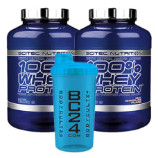 100% Whey Protein 2er Pack + BC24 Shaker