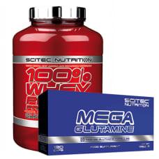 100% Whey Protein Prof. + GRATIS Mega Glutamin