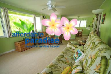 Beach House in Kailua with AC,  2 bedrooms, 1 1/2 bath