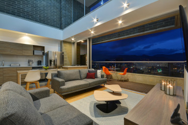 furnished apartments medellin penthouse - Obra Quince 3 Level Penthouse
