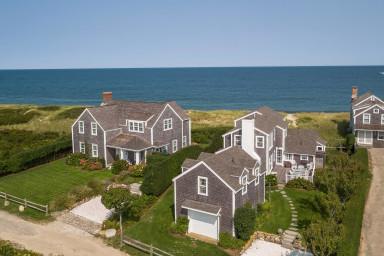 Quidnet Oceanfront House + Guest House w/ Beach Path & Flower Gardens