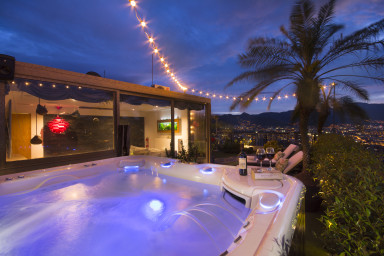 furnished apartments medellin penthouse - Hills 2303 Astonishing Triplex Penthouse with Private Jacuzzi