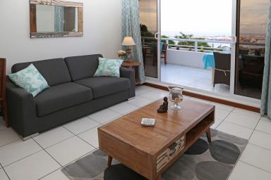 Appartement Blue One - Papeete  - vue mer - 1 chambre - clim & WiFi - 4 per