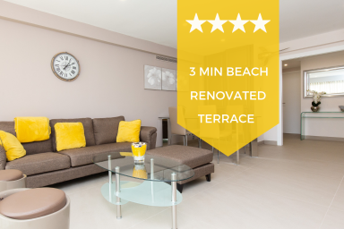 ❤ Kikiloue, 2 min from the beaches, terrace and parking ❤ Palm Beach