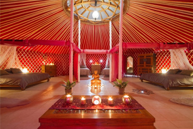 Eco Yurt Royale is the largest yurt on the Finca
