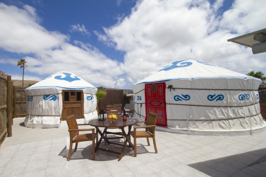 Eco Chiquitita Yurts is a snug accommodation with real green credentials