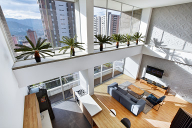furnished apartments medellin penthouse - Obra Quince 704 Luxury Penthouse in Poblado