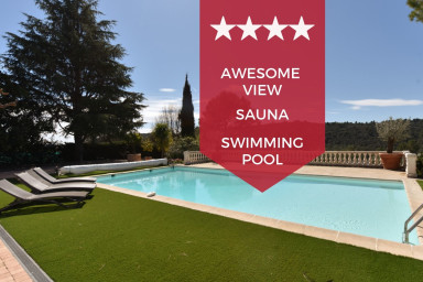 KIKILOUE - VALBONNE - Splendid villa with heated swimming pool & sauna!