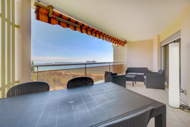 IMMOGROOM -Panoramic sea view terrace-2min from the beach -BEACHES/CONGRESS