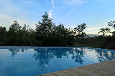 Yourte en bois tout confort 2 - piscine chauffee