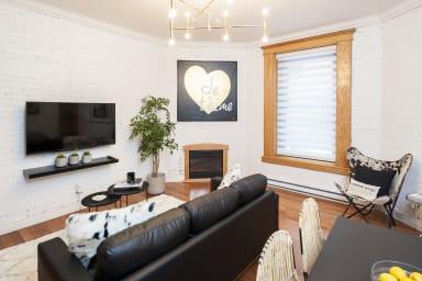 Appartement meublé à côté du réseau souterrain de Montréal
