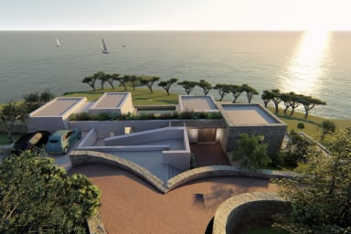 Amazing  spacious  Villa with direct access to the sea open in  2021