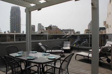 Roof top terrace apt -Hovevei Tsion 39- Bugrashov