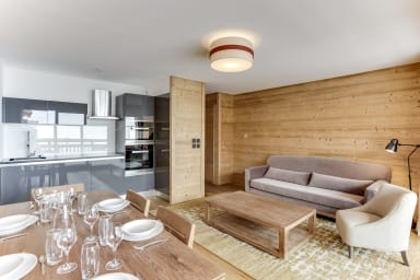 Splendid ski in/ski out apartment in Eden Blanc within a cosy atmosphere
