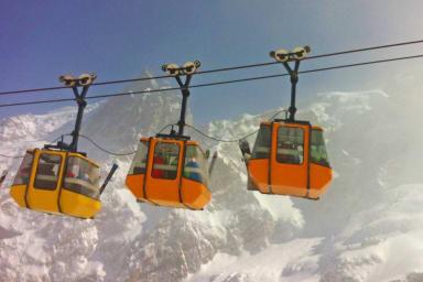 the cable car Les Glaciers de la Meije