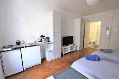Appartement confortable 27 m2 en pleine rue d'Antibes et Croisette