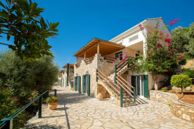 Lovely Villa with Stone and Wood Elements in Sivota Bay for Sale