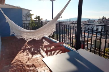 Ideal for couples, wifi, city views+terrace! - Gràcia -Parc Güell Penthouse