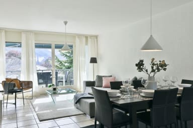Large modern apartment in a residential area in Sierre