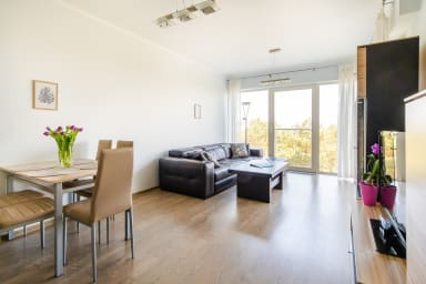 You can spend the afternoons in the spacious, bright living room. It has...
